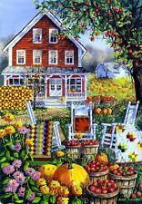 "Autumn Joy Fall Garden Flag Apple Orchard Decorative Yard Banner 12"" x 18"""