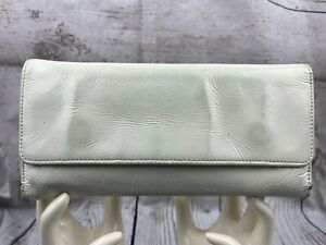 HOBO INTERNATIONAL Trifold  White Patent Leathers Wallet