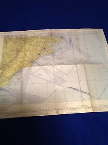 Antique Vintage USAF Air Force Aeronautical Chart  Map 1954 Pamlico  Sound