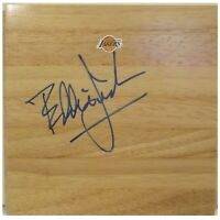 Eddie Jordan L.A. Lakers Autograph Signed Basketball Floor Board Exact Proof COA