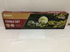 Quest Rec Leavel Badminton /Volleyball Combo Set 4 Steel Badminton Racquet Only