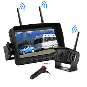 "1080P Digital Wireless Rear View Backup Camera+7"" Monitor 50m For RV Truck Bus"