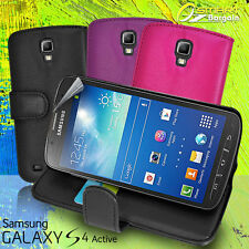Leather Stand Wallet Flip Case Cover for Samsung Galaxy S4 Active I9295 S IV SP