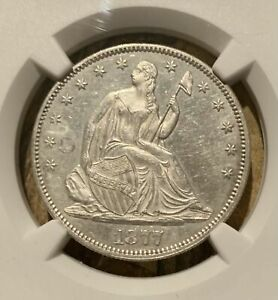 1877 PROOF Seated Liberty 50c ~ NGC Proof ~ Only 510 minted ~ Looks PR-61 to me!