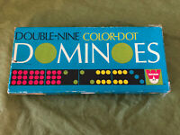 Vintage Double Nine Color Dot Dominoes set By: Whitman