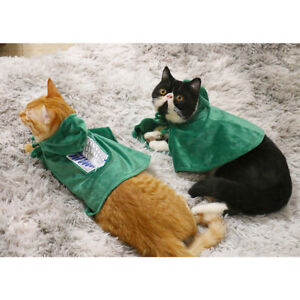 Anime Attack on Titan Jiyuu no Tsubasa Levi Ackerman Pets Cosplay Cat Clothes