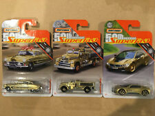 Matchbox 2019 50th Anniversary Superfast Gold Hudson, Seagrave & BMW i8 Lot of 3