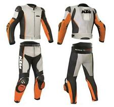 KTM Customized Motorbike Motorcycle Biker Racing Leather Suit 1 and 2 Piece