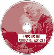 40+ Pietro Deiro (NEW) Accordion Sheet Music - CD#3 of 5
