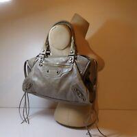Sac main bandoulière marron beige cuir design vintage mode femme art déco N6677