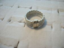 JTV SVR321 SZ 7 Sterling Silver Flex Mesh Link Ring