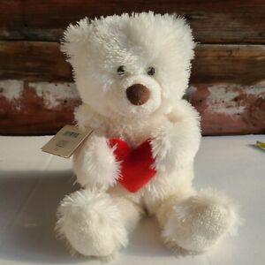Hallmark White Teddy Bear Louie Love talking Valentine