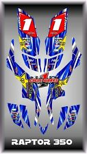 Yamaha raptor 350 YFM350  SEMI CUSTOM GRAPHICS KIT 0beb2