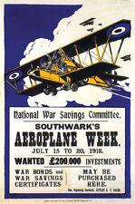AEROPLANE WEEK 1918 United Kingdom Vintage Ad Poster Print