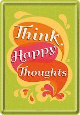 Nostalgic-Art - Blechpostkarte 10 x 14 cm - Think Happy Thoughts