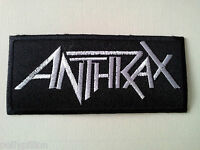 PUNK ROCK HEAVY METAL MUSIC SEW ON / IRON ON PATCH:- ANTHRAX (a) SILVER STRIPE