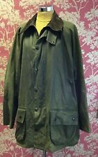 Vintage Green Barbour A230 Beaufort Wax Coated Jacket C46/117cm