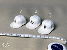 "1/6 Scale Soldiers White Hip Hop Flat Brim Baseball Cap Hat 3 Styles F 12"" Body"