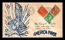 DR JIM STAMPS US AMERICA FIRST WWII CACHET COVER 1944 CLEVELAND OHIO