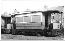 Tram Photo London Transport Car no 018 in Depot PC Size, Possibly Works Use?