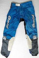 vtg OCELOT MX 90s Motocross Racing Pants sz 18 Neon Electric Blue Black 90s