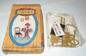 Chrysnbon Kit 1'' Scale Dollhouse Furniture F-110 Table & Chair Picture Frames +
