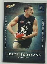 2013 AFL SELECT CHAMPIONS BF3 Heath Scotland Carlton Best and Fairest CARD
