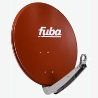 FUBA DAA 650 R SAT Alu Antenne Spiegel 65cm Satelliten Schüssel Ziegelrot HD 4K