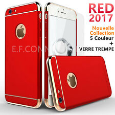 Coque Houss + Film Verre Trempe Protection Pour iPhone 6 6S 7 Plus 8 X XR XS MAX