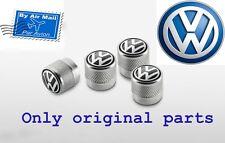 Genuine  Volkswagen Valve Caps with Volkswagen Logo