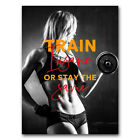 Fitness Girl Poster Bodybuilding Canvas Silk Print Motivational Gym Room Decor