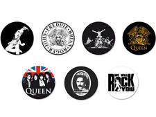 Lot Pack Badge Button Pins Ø25mm Queen Freddie Mercury Rock UK