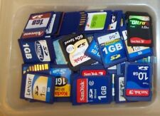 Lot of (10) 1GB SD memory cards mixed brand