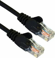 3m CAT5e RJ45 Network Internet Ethernet Cable LAN Patch UTP 26AWG CCA Lead Black