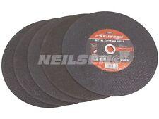 "Neilsen 5 x 350mm (14"" inch ) Metal Cutting Discs Angle Grinder Cut Steel 0974"
