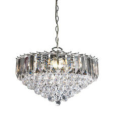 Endon Fargo chandelier 6x 60W Chrome effect plate & clear acrylic