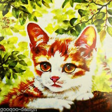 Kit punto croce gatto 53x39cm Kater KITTEN GATTINO IMMAGINE #80259