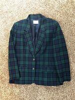 Pendleton Vintage Vtg 100% Wool Blazer jacket Plaid Women's Medium