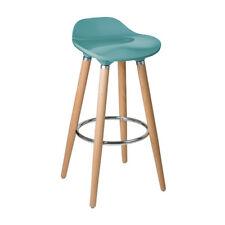 Vivid Homeware Scout Blue Bar Stool - Seat Kitchen Breakfast Chair Colourful
