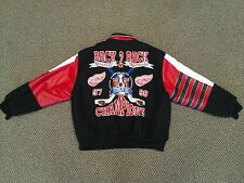 NHL - HOCKEY - DETROIT RED WINGS 97 - 98 STANLEY CUP CHAMPIONS LEATHER JACKET.!!