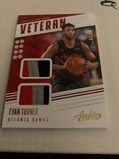 2019-20 Absolute Memorabilia Evan Turner Veteran Jersey Card Hawks 3 Color /10