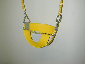 Swingset toddler swing,transition swing,half bucket swing,front safety chain,PVC