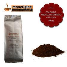 Caffè Arabica macinato fresco per espresso Colombia Medellin Supremo 500 gr