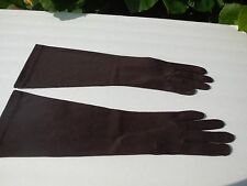 *VAN RAALTE LADIES BROWN STRETCH NYLON DRESS GLOVES UNLINED SIZE 7.5