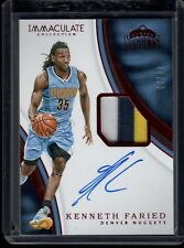 2016-17 Panini Immaculate BKB #P-KF Kenneth Faried Nuggets PATCH AUTO RED #/25!!