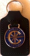 Toyota Corona Keyring Key Ring - badge mounted on a leather fob