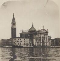 Venezia San Giorggio Maggiore Italia Stereo Vintage Analogica Ca 1920