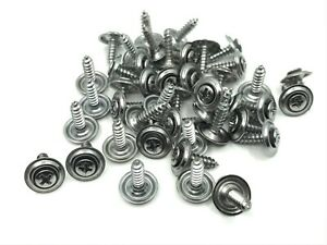 "45 pcs chrome kick panel door trim screws #8 x 5/8"" Fits  Dodge AMC chrysler"