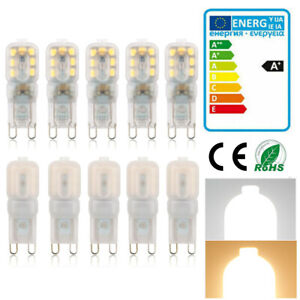 ✅10x LED G9 Dimmable 3W Ampoule Lampe Éclairage Blanc Chaud Blanc Froid AC220V