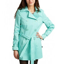 TAHARI NEW TRENCH RAINCOAT JACKET GREEN WOMEN COAT RAIN CATHY GIRLS Turquoise M